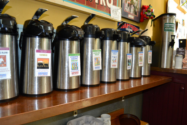 Many flavors of coffee to choose from!